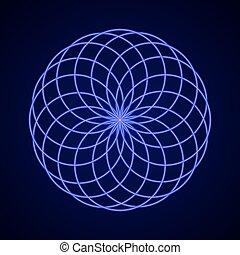 sagrado, geometry., símbolo, de, harmony.