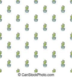 Saguaro cactus pattern seamless - Saguaro cactus pattern in...