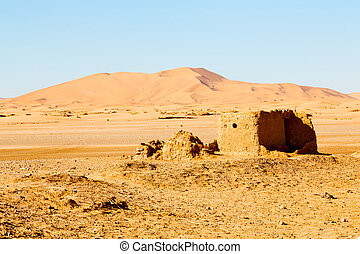 sahara africa in morocco the contruction