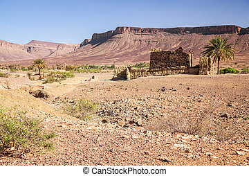 Sahara desert and the mountain