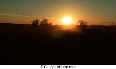 sahara desert at sunset, camera car