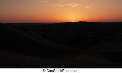 Sahara desert. Dawn. - a sahara desert landscape during a...