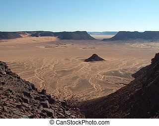 Sahara desert - Mountains and highlands