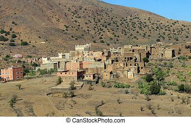 sahara, western, wieś