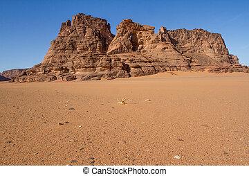 sahara?s, paisaje., argelia, tassili, n?ajjer, sur