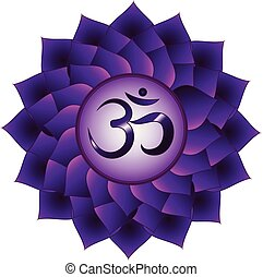 Sahasrara chakra. Seventh, crown chakra symbol