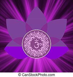 Sahasrara chakra symbol. EPS 8 vector file included