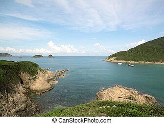 Sai Wan bay in Hong Kong