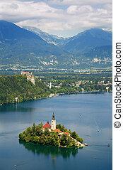 saigné, lac, slovénie