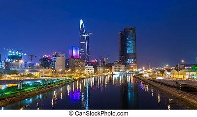Saigon City Skyline Timelapse