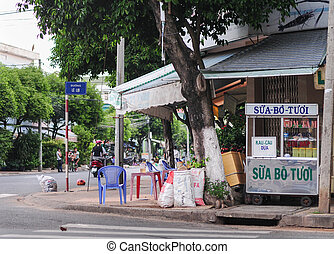 View of street life in Ho Chi Minh city