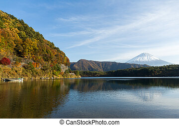 Saiko Lake and Mountain Fuji