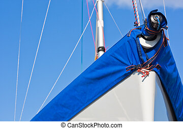 Sail boat and sunny sky (1)