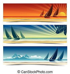 Sail boat background