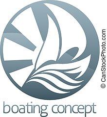 Sail boat circle concept