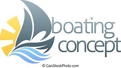 Sail boat concept - An abstract illustration of a sail boat...