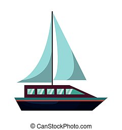 sail boat isolated icon