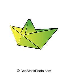 Sail boat origami