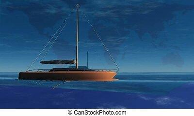 Sail-boating