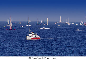 sail boats in Saint Tropez, France