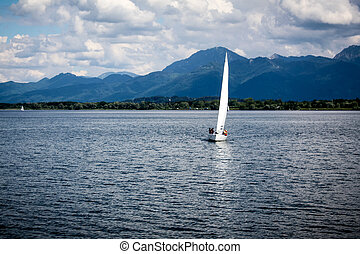 Sail boats on the lake