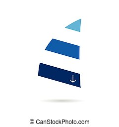 sail icon blue illustration