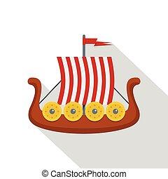 Sail icon, flat style