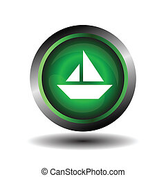 Sail icon on round internet button