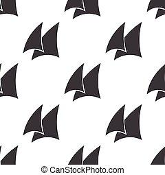 sail icon on white background