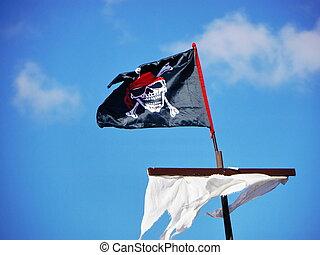 sail jolly roger - Jolly Roger skull and crossbones black...