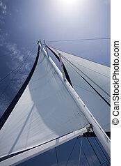 Sail on a yacht