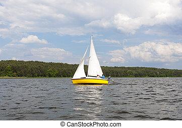Sail on lake