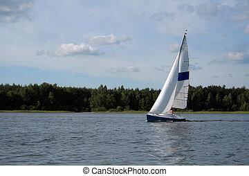 sail on the lake