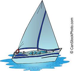 Sail on water - vector illustration.