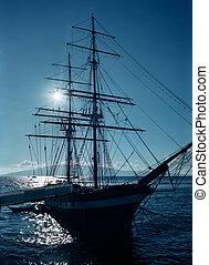 Sail ship at dock