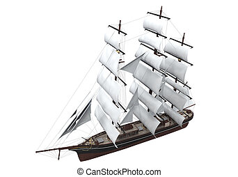 Sail Ship Isolated