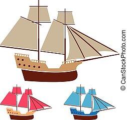 Sail ship vintage