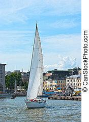 sailboat., χέλσινκι