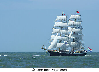 Sailboat - A Dutch sailboat at sea
