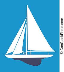 Sailboat - A vector illustration of sailboat