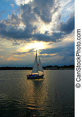 sailboat against the