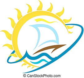 Sailboat and sun travel
