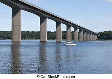 Sailboat at the Bridge