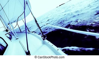 Sailboat - Blue tinted