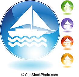 Sailboat Crystal Icon