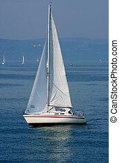 Sailboat - Digital photo of a sailboat on the sea called...