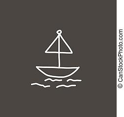 Sailboat hand drawn