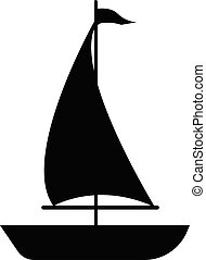 sailboat icon on white background. flat style. sailboat icon for your web site design, logo, app, UI. boat sign.