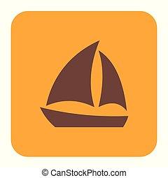 Sailboat icon simple