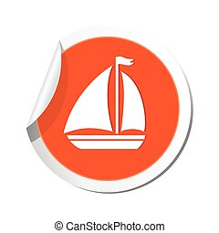 Sailboat icon. Vector illustration